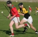 Under control - St. Martin\'s Noel D\'Arcy keeps control of the sliotar as Patrick McNamara (Piltown) comes into challenge.