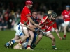No foul, tough tackling St. Martins defenders Ger Doyle and Shane Cadigan