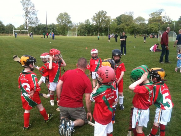 Halftime talk with Niall and the U6s