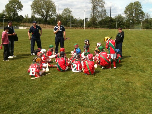 Mattie & Benji giving the team talk