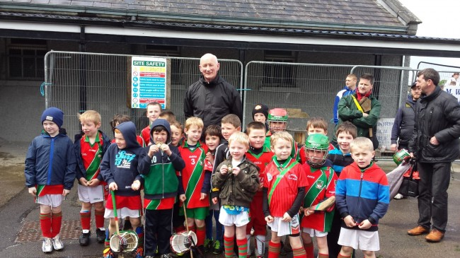 U8 squad meeting Brian Cody at St. Kieran's Blitz.